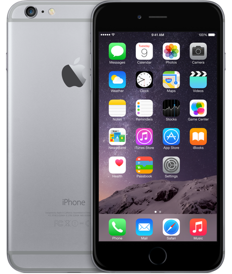 Apple iPhone 6 Plus 128GB Space Gray (Черный/Серый)