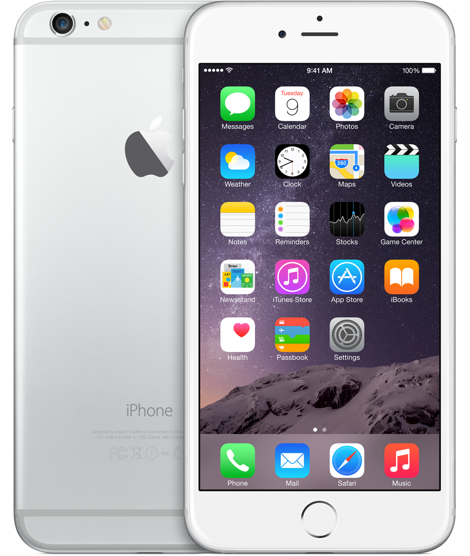 Apple iPhone 6 Plus 128GB Silver (Белый/Серебристый)