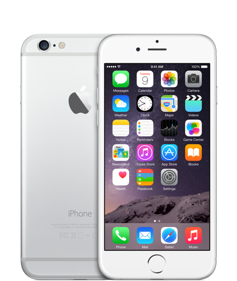 Apple iPhone 6 64GB Silver(Белый/Серебристый)