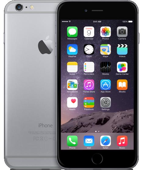 Apple iPhone 6 Plus 64GB Space Grey как новый (Черный/Серый)
