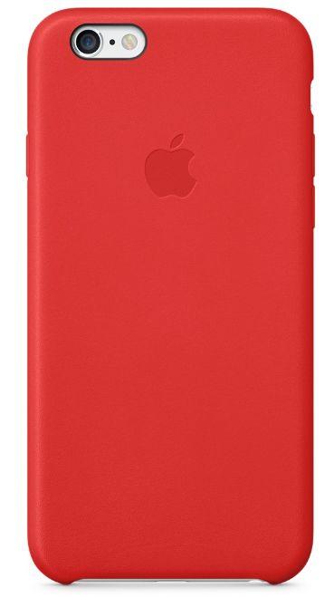 Клип-кейс Apple кожаный для iPhone 6 красный