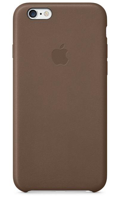 Клип-кейс Apple кожаный для iPhone 6 шоколадный