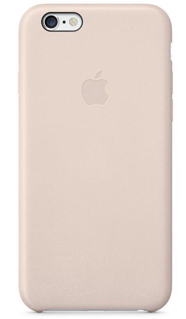 Клип-кейс Apple кожаный для iPhone 6 бледно-розовый