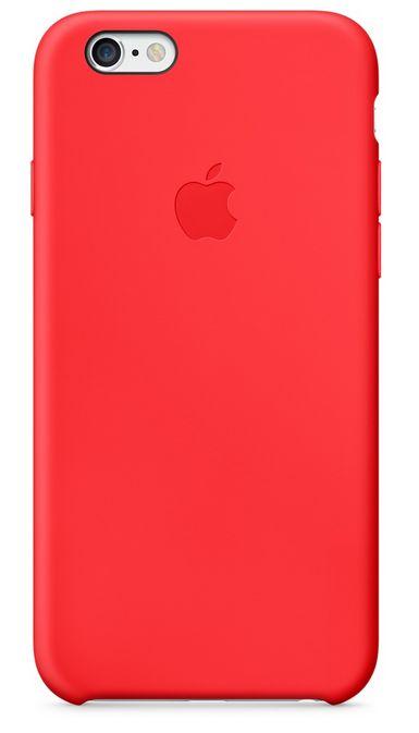 Клип-кейс Apple силиконовый для iPhone 6 красный