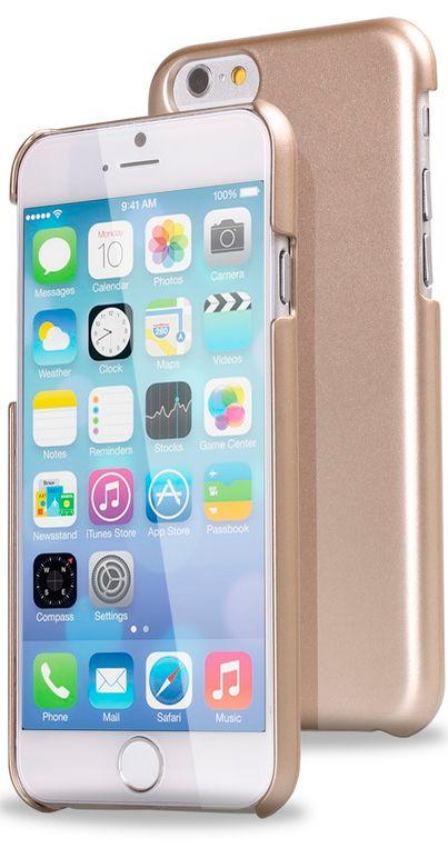 Чехол клип-кейс Smartbuy Chrome (SBC-Chrome iP6-G) для iPhone 6 (цвет шампань)