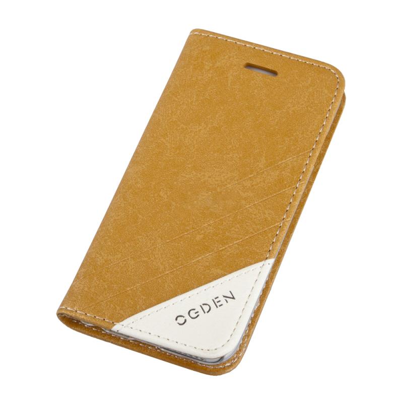 Чехол книжка флип-кейс Ogden Sparkle для iPhone 6 (коричневый)