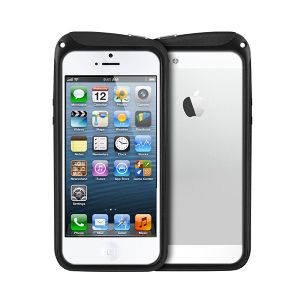 Бампер Nodea для iPhone 6 (черный, стилус + шнурок)