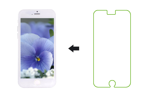 Противоударное защитное стекло Tempered GLASS для Apple iPhone 6 0.2mm
