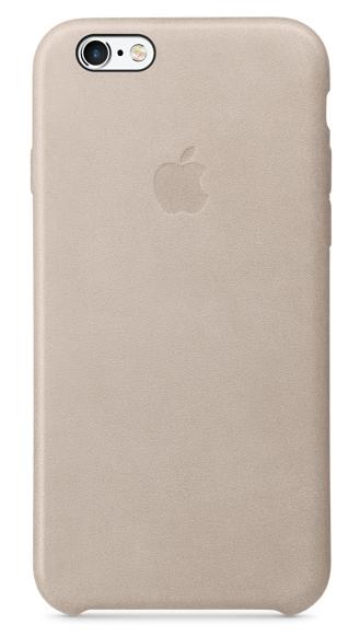 Кожаный чехол для iPhone 6s – телесный (пепельно-розовый)