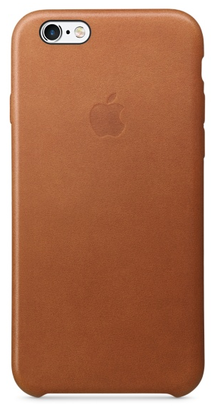 Кожаный чехол для iPhone 6s – золотисто-коричневый