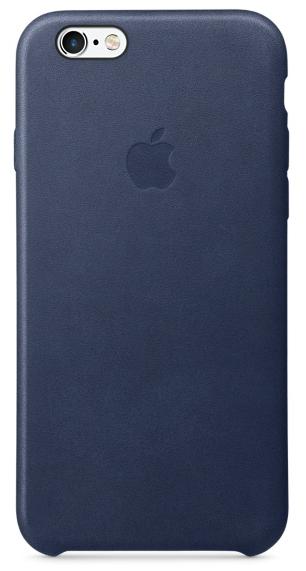 Кожаный чехол для iPhone 6s – тёмно-синий
