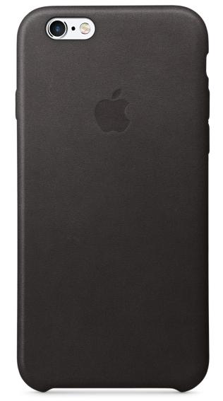 Кожаный чехол для iPhone 6s – чёрный