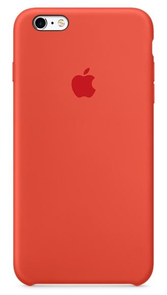 Силиконовый чехол для iPhone 6s – оранжевый