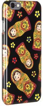 Клип-кейс Zakka A La Rus Матрешка для iPhone 6/6S (черный)