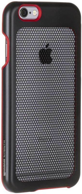Клип-кейс Sevenmilli DieSlimest для iPhone 6/6S (черно-красный)
