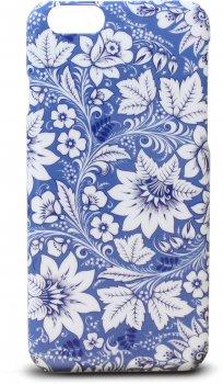 Чехол клип-кейс Zakka A La Rus Гжель Цветы для iPhone 6/6S (c рисунком)