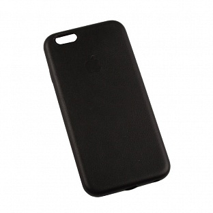 Клип-кейс Apple для iPhone 6 (4,7) Leather Case черный (копия)