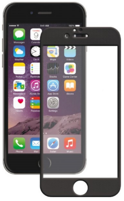 Защитное стекло 3D для телефона Apple iPhone 6/6S  черное