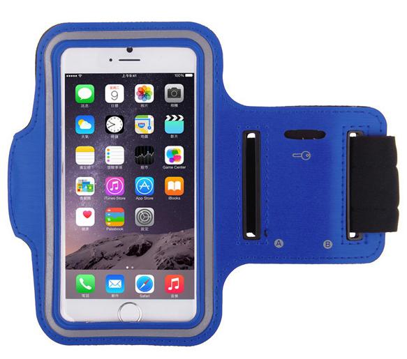 Спортивный чехол на руку для бега для iPhone 6/6S синий