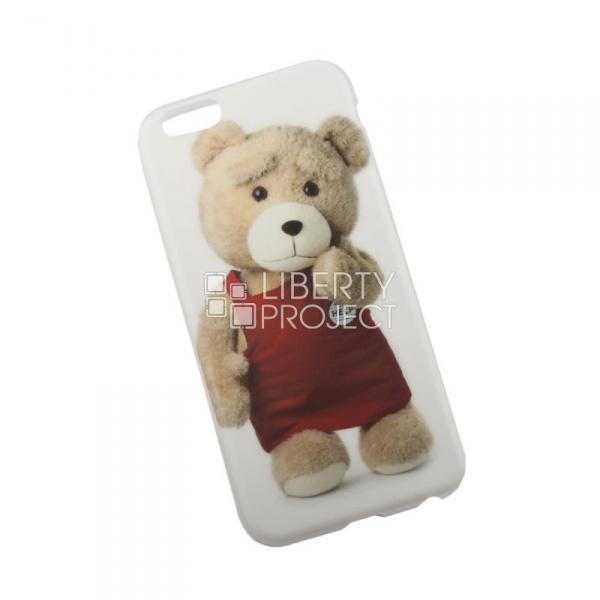 Чехол клип-кейс   силиконовый Медведь Тэд Продавец для iPhone 6/6S (белый)