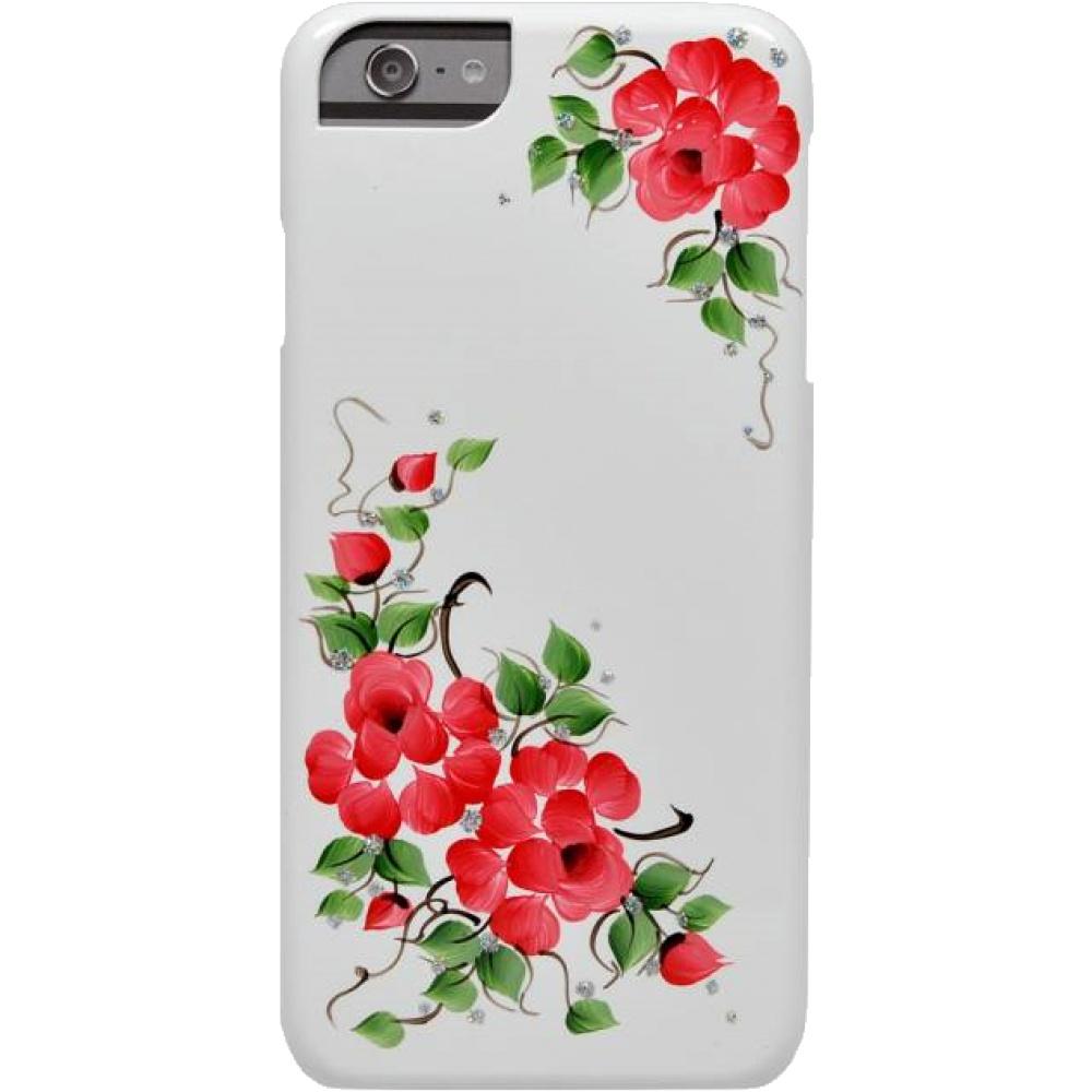 Чехол клип-кейс iCover Red Flovers для iPhone 6/6s (красный)