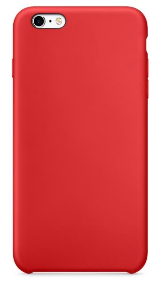 Чехол клип-кейс силиконовый для Apple iPhone 6/6S красный (реплика)