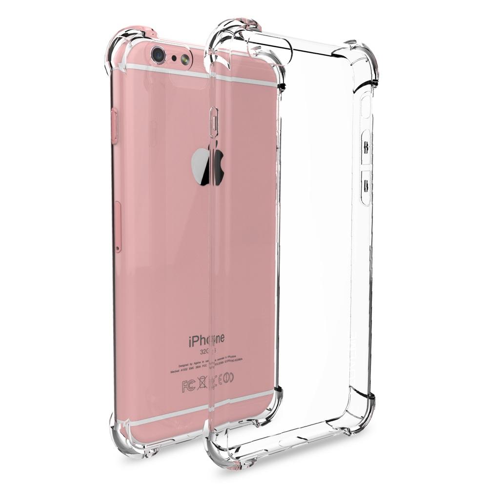 Чехол клип-кейс для Apple iPhone 6/6s из плотного силикона с усиленными уголками (прозрачный)