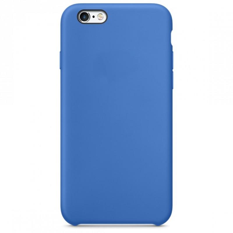 Чехол клип-кейс силиконовый для Apple iPhone 6/6S синий (реплика)