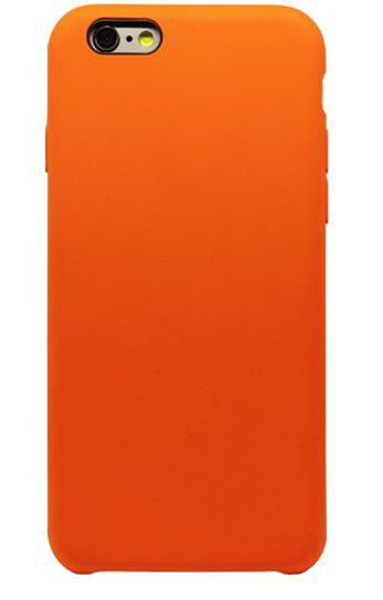 Чехол клип-кейс силиконовый для Apple iPhone 6/6S оранжевый (реплика)