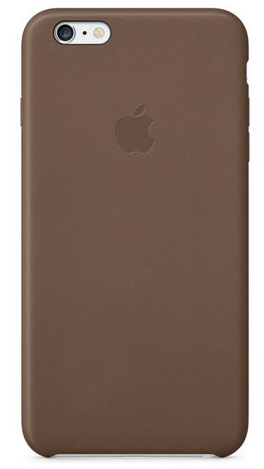 Клип-кейс Apple кожаный для iPhone 6 Plus шоколадный (MGQR2ZM/A)