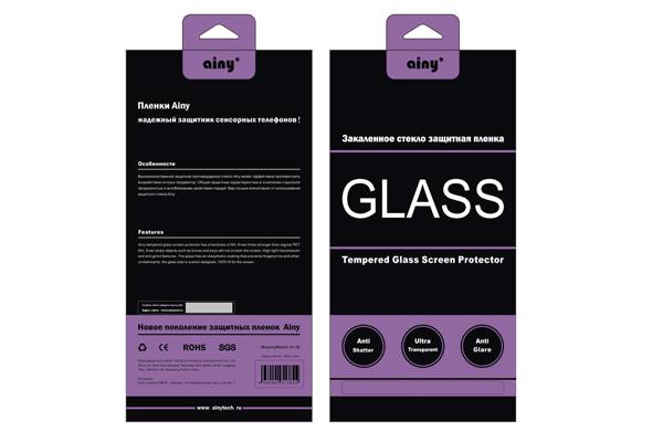Противоударное защитное стекло Ainy GLASS для Apple iPhone 6 Plus 0.33mm