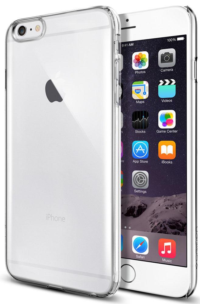 Клип-кейс силиконовый для iPhone 6 Plus (прозрачный)