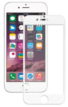 Защитное стекло Onext 3D для телефона Apple iPhone 6 Plus белое