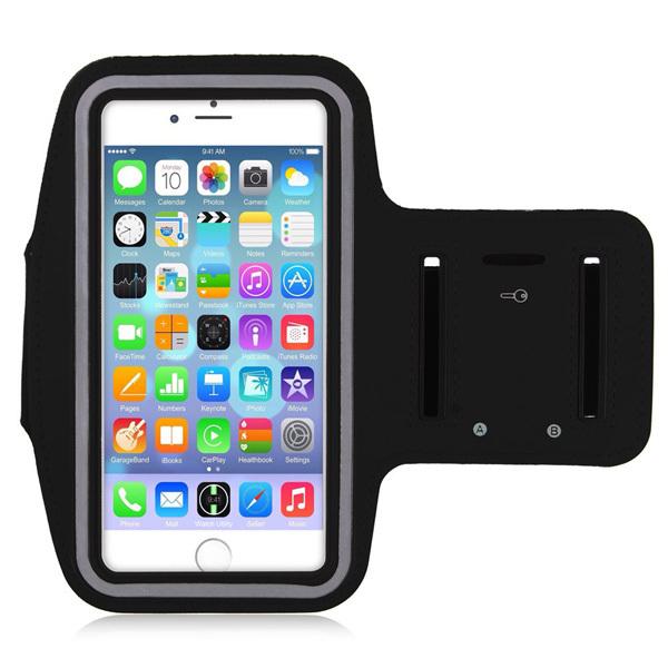 Спортивный чехол на руку для бега для iPhone 6+/6S+ черный