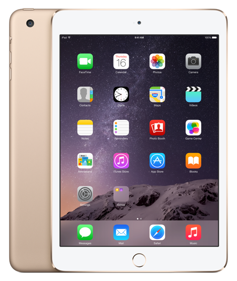 Планшет Apple iPad Mini 3 Wi-Fi  + Cellular 64GB Gold