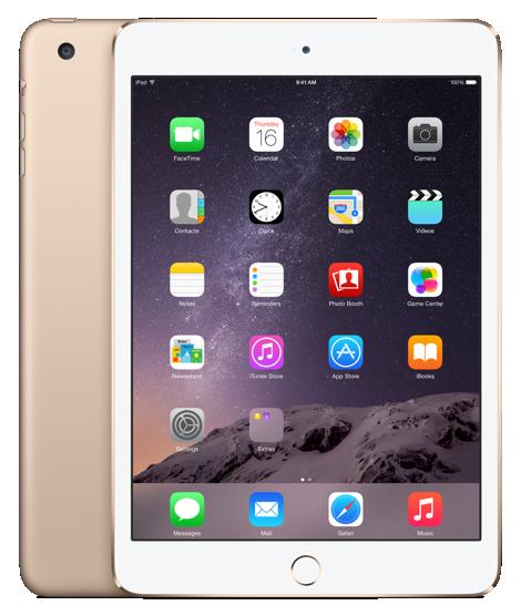 Планшет Apple iPad Mini 3 Wi-Fi + Cellular  128GB Gold