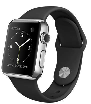 Apple Watch Корпус Steel Black 38 мм, нержавеющая сталь, чёрный спортивный ремешок (38mm Stainless Steel Case with Black Sport Band) (C2) (MJ2Y2)