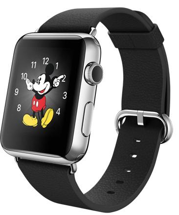 Apple Watch steel classic black Корпус 42 мм, нержавеющая сталь, чёрный ремешок с классической пряжкой (42mm Stainless Steel Case with Black Classic Buckle) (D3)