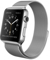 Apple Watch milano Корпус 42 мм, нержавеющая сталь, миланский сетчатый браслет (42mm Stainless Steel Case with Milanese Loop) (MJ3Y2) (D4)
