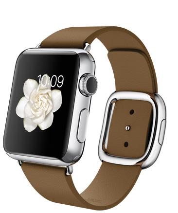 Apple Watch Brown Modern Корпус 38 мм, нержавеющая сталь, коричневый ремешок с современной пряжкой (38mm Stainless Steel Case with Brown Modern Buckle) (C7)