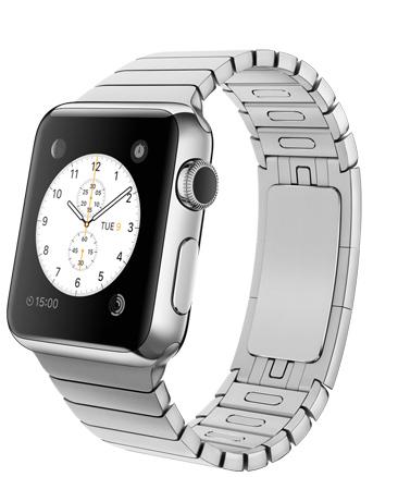 Apple Watch Link Bracelet Корпус 38 мм, нержавеющая сталь, блочный браслет из нержавеющей стали (38mm Stainless Steel Case with Link Bracelet) (MJ3E2) (C9)