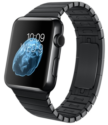 Apple Watch Space Black Корпус 42 мм, нержавеющая сталь «чёрный космос», блочный браслет (42mm Space Black Link Bracelet) (MJ482) (MJ482)