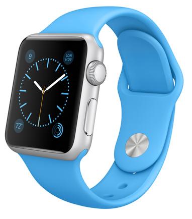 Apple Watch Sport Blue Корпус 38 мм, серебристый алюминий, голубой спортивный ремешок (A2)