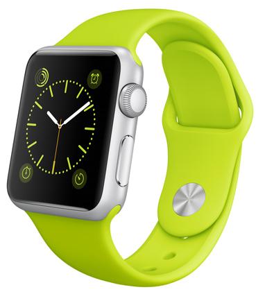 Apple Watch Sport Green Корпус 38 мм, серебристый алюминий, зелёный спортивный ремешок (A3)