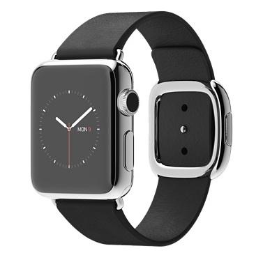 Apple Watch Black Modern Корпус 38 мм, нержавеющая сталь, чёрный ремешок с современной пряжкой (38mm Stainless Steel Case with Black Modern Buckle) (C5)