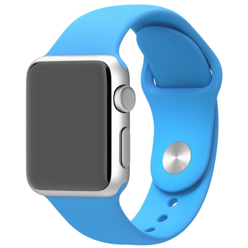 Спортивный ремешок голубого цвета для Apple Watch 38 мм, размеры S/M и M/L (MLDA2ZM/A)