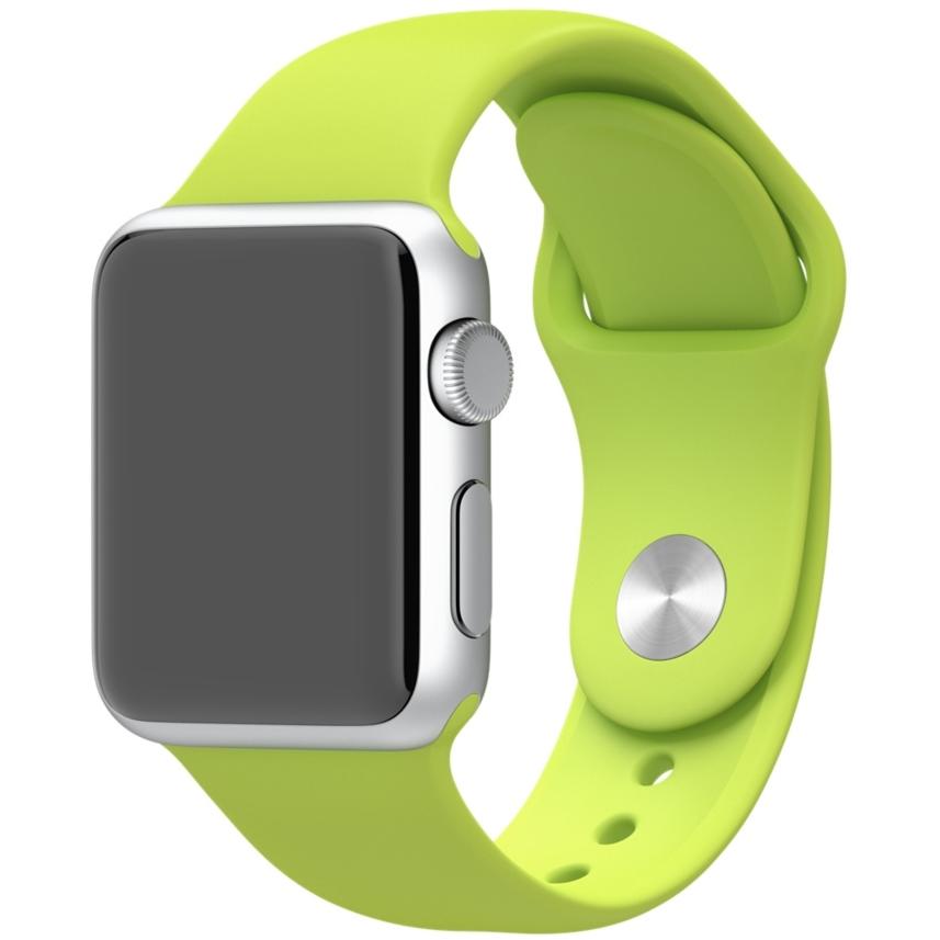 Браслет 42мм для спортивных часов зеленый (42mm Green Sport Ban)