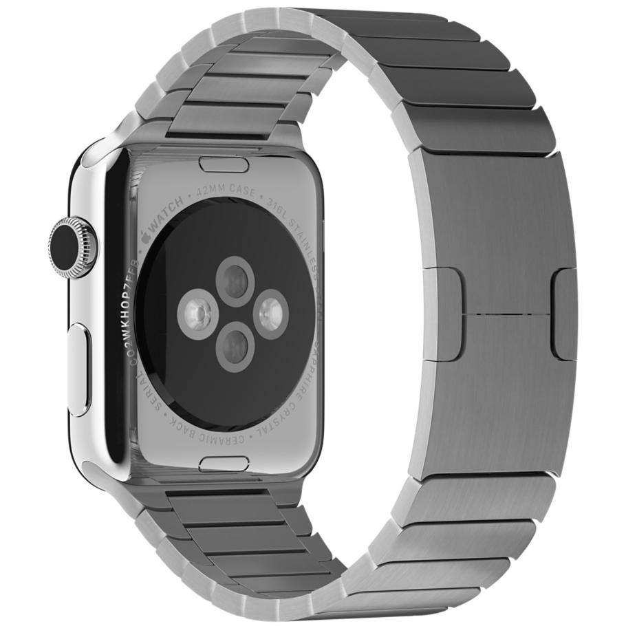 Блочный браслет серебристого цвета для Apple Watch 42 мм (MJ5J2ZM/A)