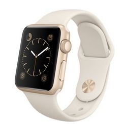 Apple Watch Sport 38mm Gold Aluminum Case with Antique White Sport Band — умные часы для iPhone (белые, золотой алюминий)