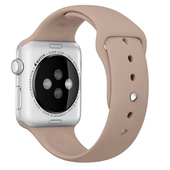 Спортивный ремешок орехового цвета для Apple Watch 38 мм, размеры S/M и M/L